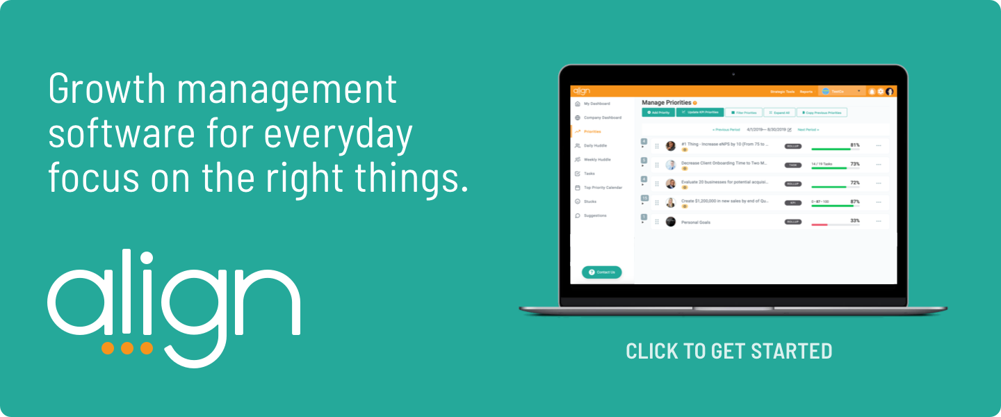 Align - software that helps align strategy and execution